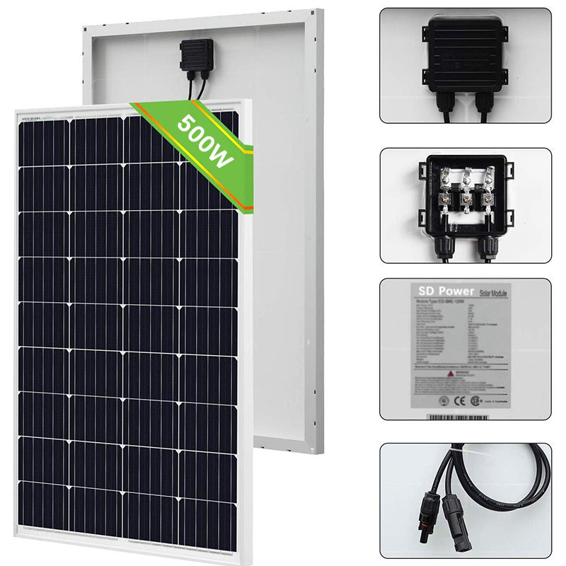 2020 NEW USA ETL CEC Certificate High efficiency Mono Single Solar Panel Prices 500W