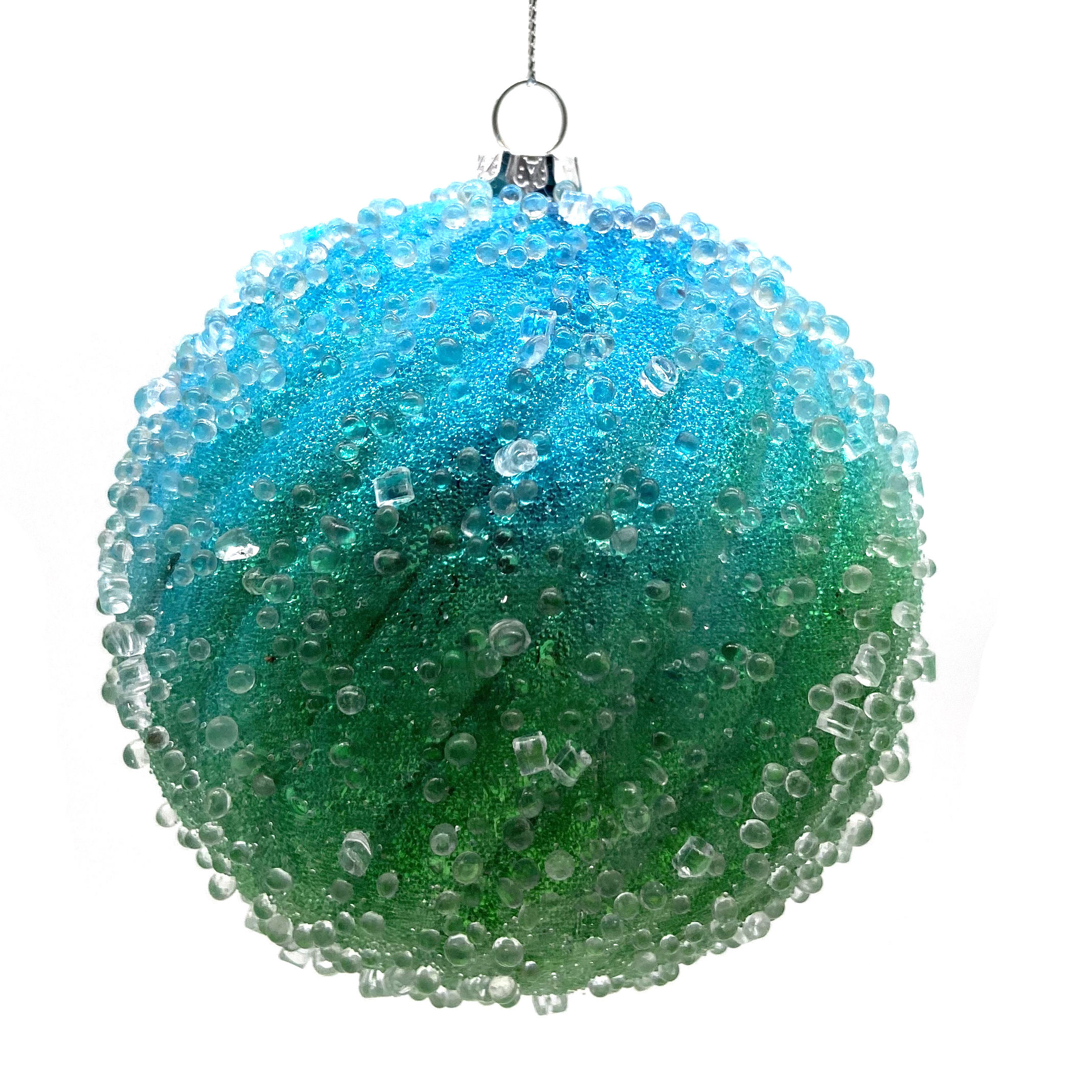 New Arrivals 2020 Promotional Gifts Glitter Christmas Ball Custom Ornament With Clear Beads