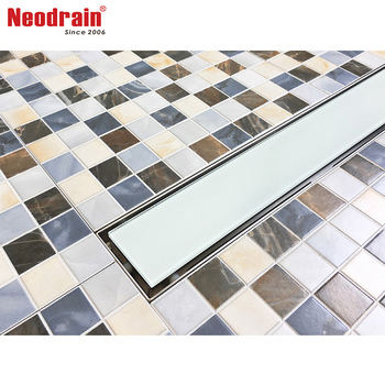Neodrain GL02 glass drain cover shower drain grate