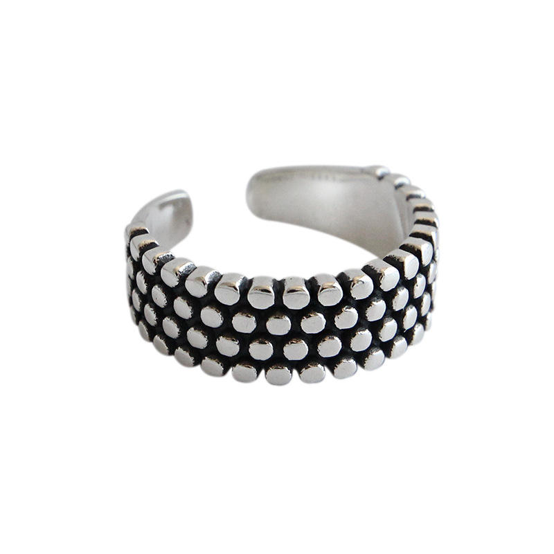 Tonglin Wholesale High Quality Korean Style Fashion 925 sterling silver punk ring