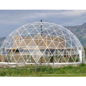 LF-BJMB Steel space frame structure prefab geodesic glass domes roof