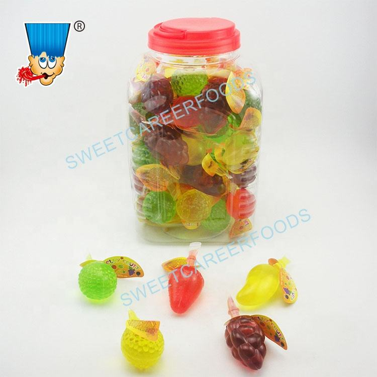 Mix Shape Assorted Fruit Jelly Cup Confectionery