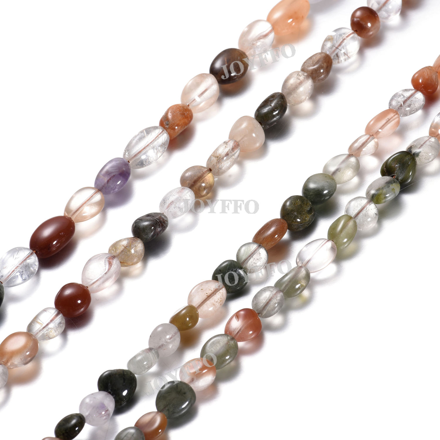 2020 Natural Quartz Crystal Beaded Faceted Crystal Mix Rutilated Quartz Loose Beads For DIY Bracelet Necklace Jewelry Making