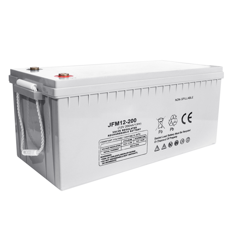 Deep cycle maintenance free 12v 200ah dry cell solar battery for solar system