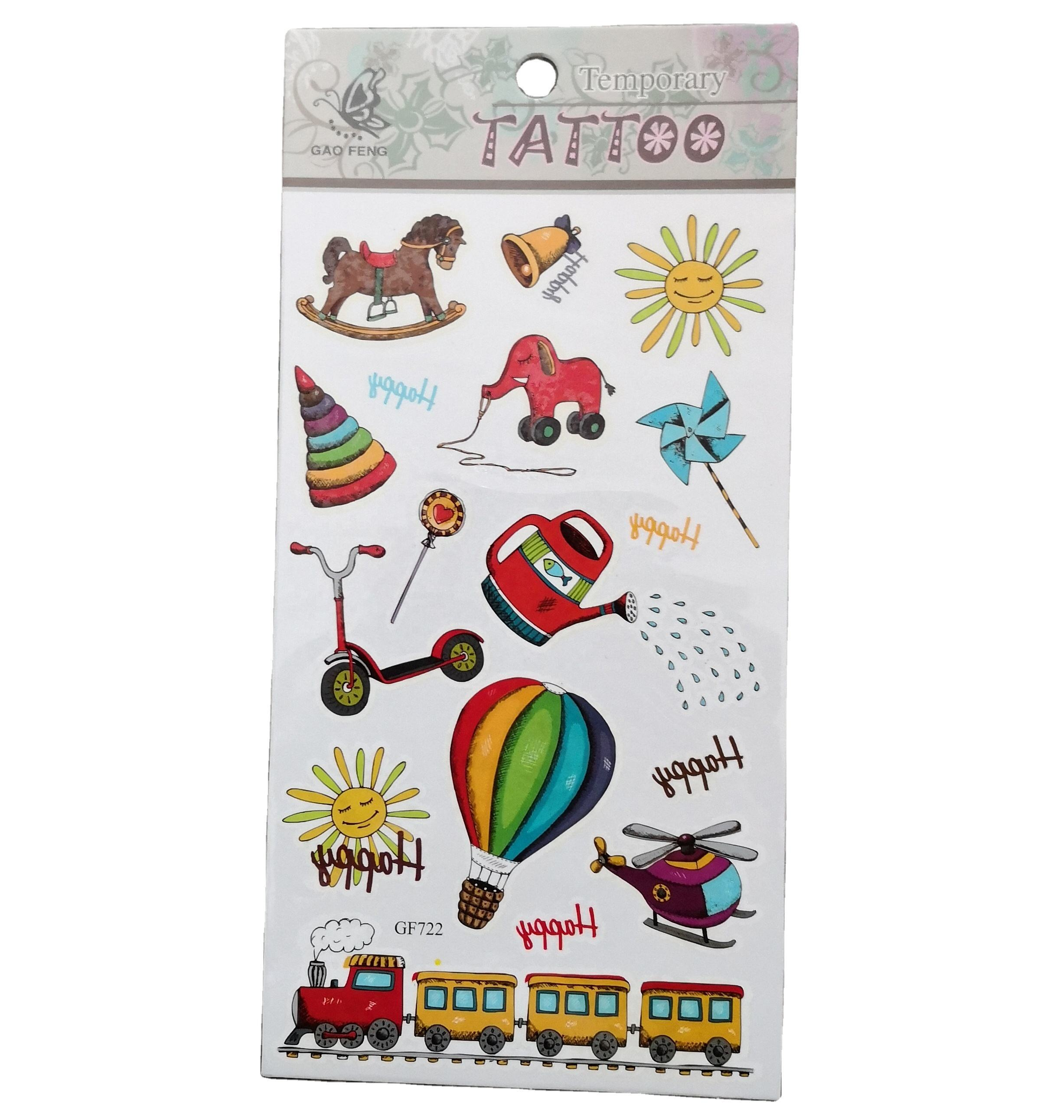 2021 wholesale vivid and great in style cusom good quality children's / kids body tattoo stickers