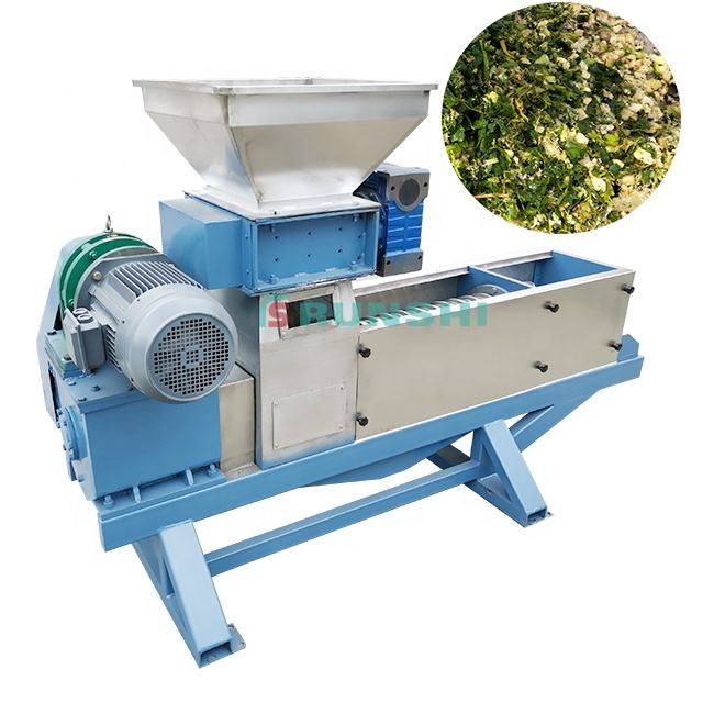 Professional cassava screw dewatering press/food waste screw press dewatering machine/waste fruit treatment equipment