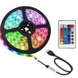DC 5V USB  2M 60LED  5050  SMD RGB Light Strip Set  LED stri
