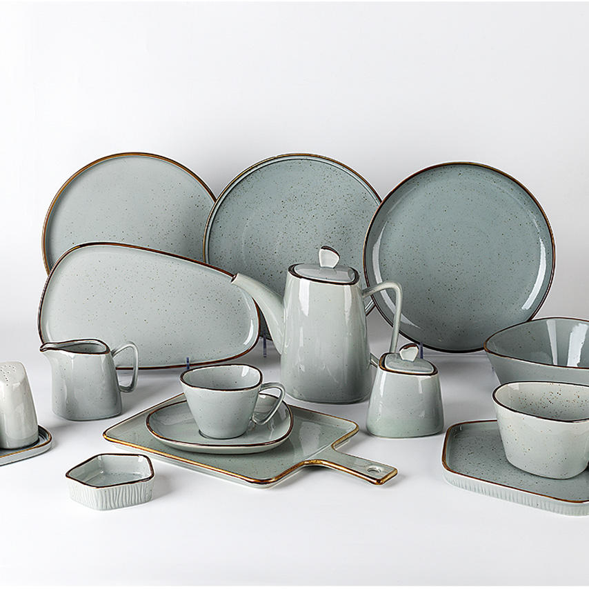 China Professional Manufacturers Color Porcelain Dinnerware Sets, Healthy Durable Luxury Tableware&