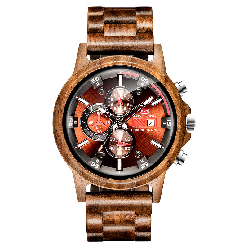 Kunhuang Personalized Special Memorial Custom Craft Wooden Watches Luminous Watches for Men 2020 New Arrival Sandalwood Watches