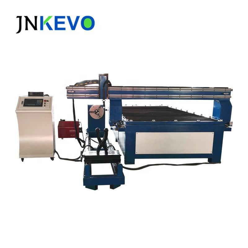 China JNKEVO Rotary Equipped Table CNC Plasma Cutting Machine 1325 1530 2030 2040 2060 for Steel Tube Pipe Cutting