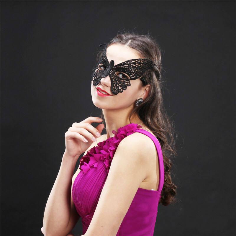 Halloween Horror Grimace Night Terror Mask Fancy Dress Party Lace Mask Gift