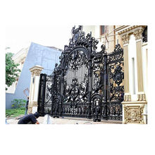Wrought Iron gate with Hot Galvanized For Luxury Entry door