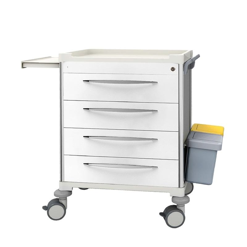 Aluminum Alloy Mould Drawer Medical Cart with Wheels