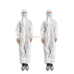ppe overalls uniform white short sleeve lab coats AAMI LEVEL 4 1860 510K comfortable waterproof antistatic smock ESD coverall