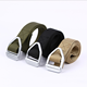 GB61 Military Style Nylon Webbing Riggers Web Belt with Buckle for Outdoor Sports and Hunting CQB SWAT black khaki tan green