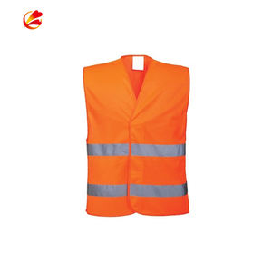 Wholesale Hs Code High Visibility Construction With Logo Printing custom color Reflective Safety Vest Class 2