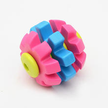Factory spot wholesale tricolor gear ball rubber TPR bite - resistant non - toxic Eco - friendly dog toys