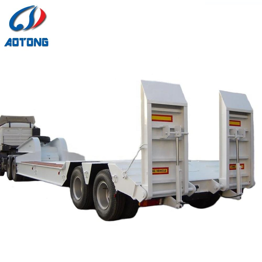 Lowbed trailer lowboy trục thấp phẳng trailer lowbed trailer lowboy trục