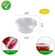 Plastic Soy Sauce Cups Plastic Disposable Sauce Cups With Lids Factory Restaurant Small Disposable Plastic PP Soy Sauce Clear 2oz Sample Portion Souffle Cups With Lids