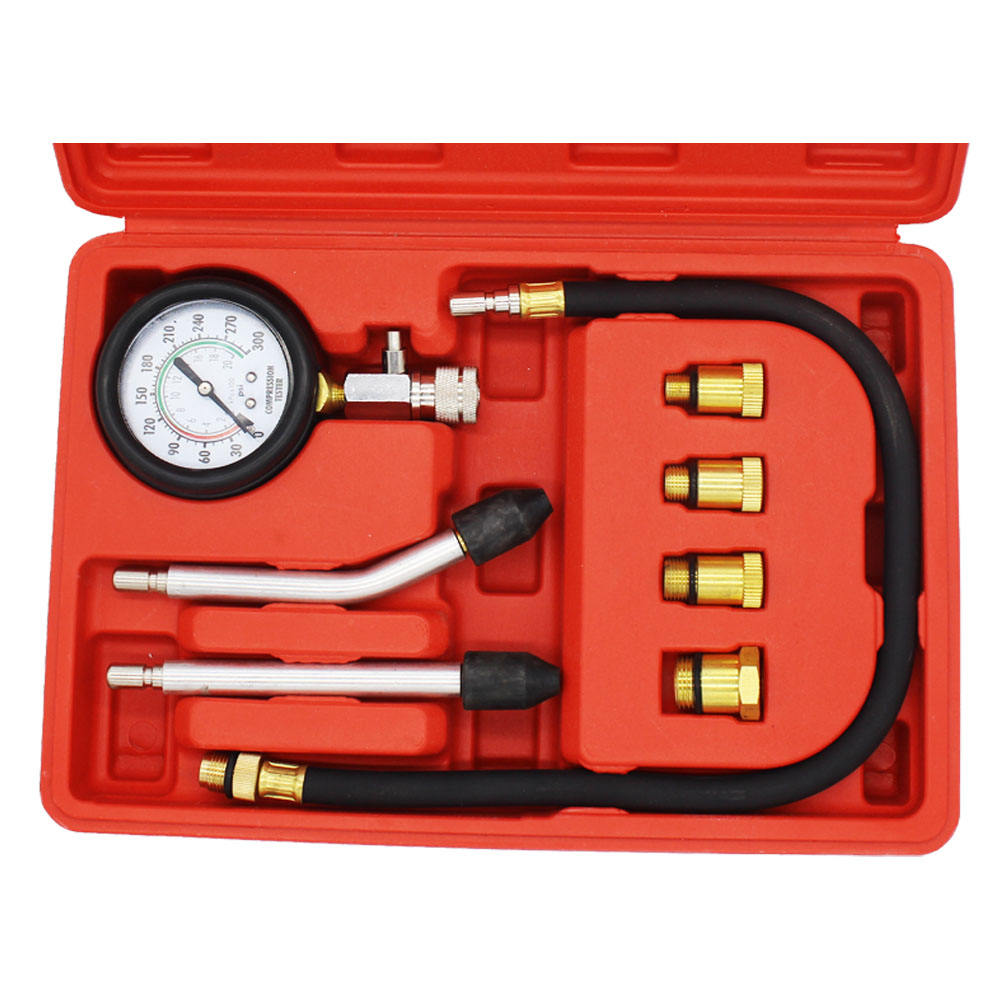 Cilinder Compressie Tester Gauge Kit Voor Automotive Benzine Gas Motor Auto Tool