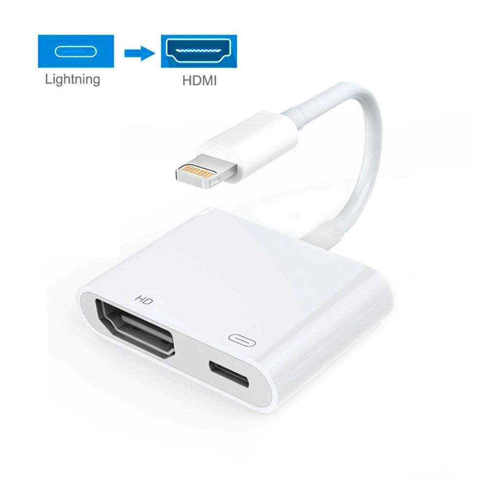 Definisi tinggi 4 K Audio Video Converter Kabel Digital AV Adapter untuk iPhone 8 Plug Bermain Kabel HDTV Cerdas