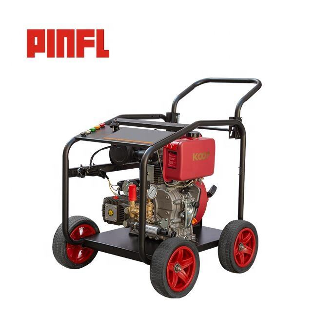 PINFL BT240Q 18Lpm 250Bar 10HP Diesel Power Washer Hydro Jet High Pressure Cleaner For Farm Cleaning