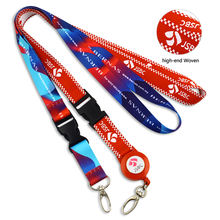 High quality neck custom polyester woven lanyards Custom lanyard Id Badge Holder