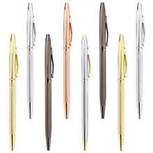 Promotion Cheap Luxury Laser Custom Branded rose gold slim Ballpoint Pens Thin Hotel supplies Promotion Pen