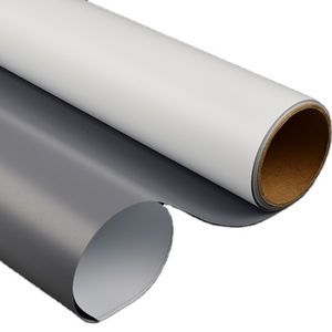 Professional Eco Solvent Semi-glossy Grey Back Inkjet Printing Display Vinyl PVC Flex Film Roll Up Banner Material