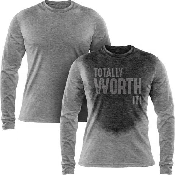 TOTALLY WORTH IT - Water Activated Men's Long Sleeve T Shirt