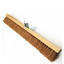Long Wooden Coconut Fiber Cleaning Broom Coconut Coir Broom Push Broom