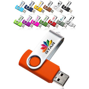 Personalizado Em Massa de Mini Pen Drive Gb 8 4Gb 16Gb 2.0 Gb de Metal Giratória Usb Stick 32Gb 64 usb Flash Drive Com o Logotipo