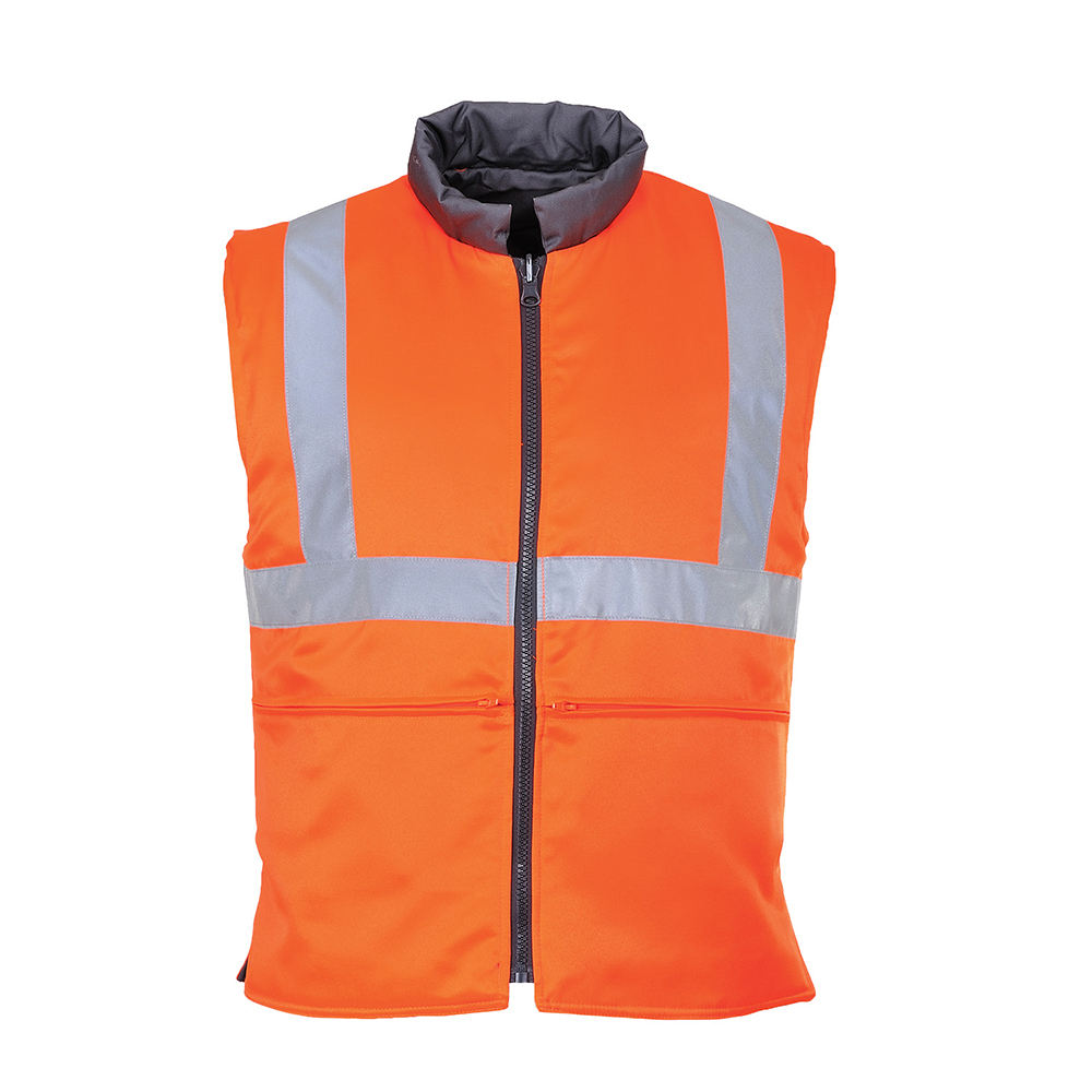 ENISO20471 Class 2 hi vis body warmer workers winter reflective body warmer vest