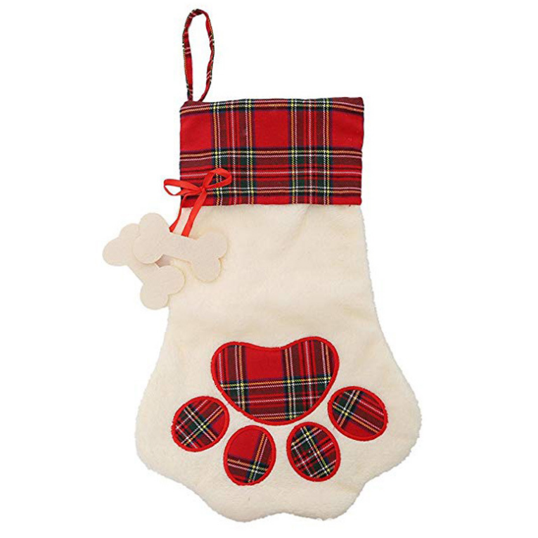 Decoration Dog Animals Paw Shaped Christmas Stocking Santa Socks