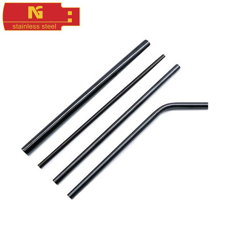 Popular Black Stainless Steel Drinking Straws Sell Well All Sizes And Other Colors Metal Straws