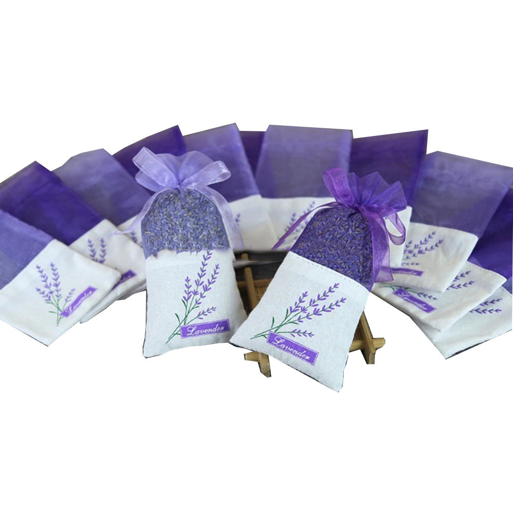 Sachet Embroidered Lavender Empty Bags Cotton Bags Organza Gauze Bags 3x6 Inch