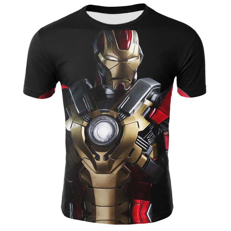 Marvel Superhero <span class=keywords><strong>Super</strong></span> Hero 3D Print T-shirt Mannen Vrouwen <span class=keywords><strong>Super</strong></span> Hero T-shirt Fitness Kleding T Shirt 100% Katoen