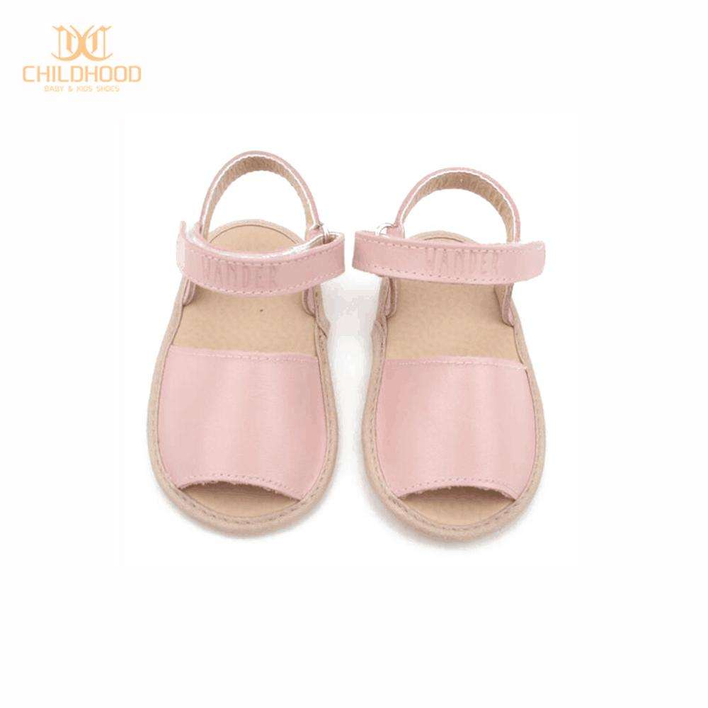Fashion Rubber Sole Toddler Shoes Kids Leather Sandals
