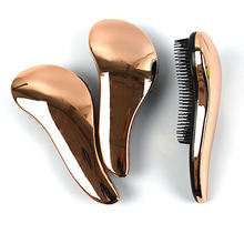 Magic Massage Gold Electroplating Tangle Free brush Detangle ABS Material Hair Brush