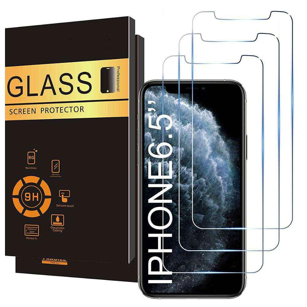 for iPhone Screen Protector Film , 0.33mm 2.5D 9H Anti-Scratch Transparent Tempered Glass Screen Protector for iPhone 11 Pro
