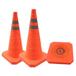 70cm Collapsible Reflective traffic cone
