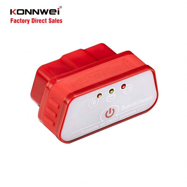 KONNWEI CE FCC RoHS Low Price Multi Color Car Diagnostic Tool Wireless Mini ELM327 Bluetooth 3.0 Android Scanner Automotive OBD2