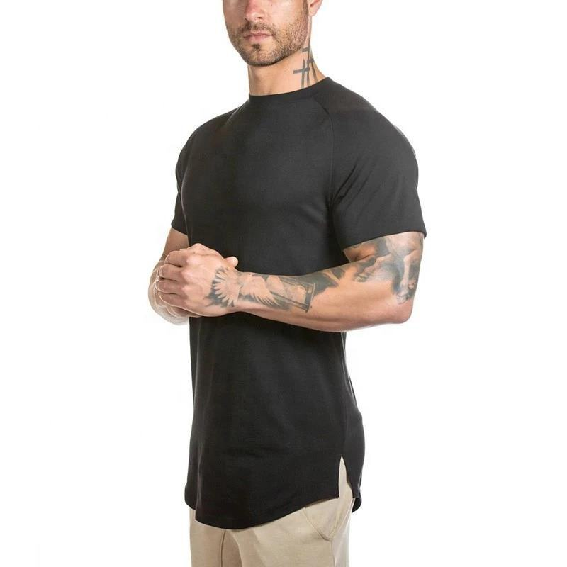 Wholesale blank gym slim fit t shirts 95% cotton 5% spandex mens tee shirt sport