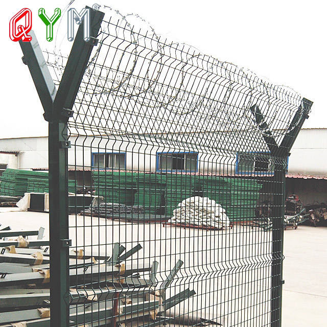 Y Post Wleded Wire Mesh Airport Fence with Barded Wire