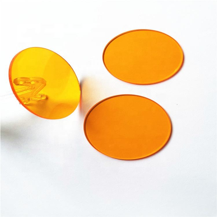 Factory directly manufacture CB535 OG530 optical orange longpass glass filter