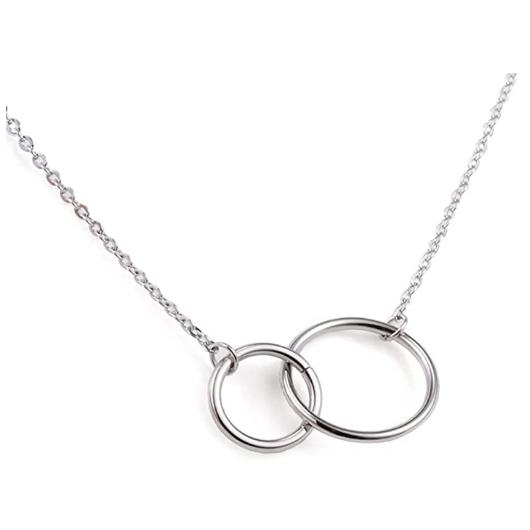 Jewelers Stainless Steel Karma Pesona Double Ring Kalung