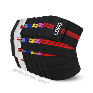 custom adult breathable powerlifting knee wraps brace knee support belt knee bandage