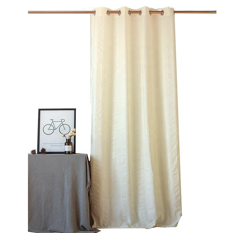OEM Solid Jacquard Window Curtain Spring Curtain