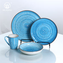 hot selling chaozhou factory color porcelain serving dishes and mug cookware sets for household