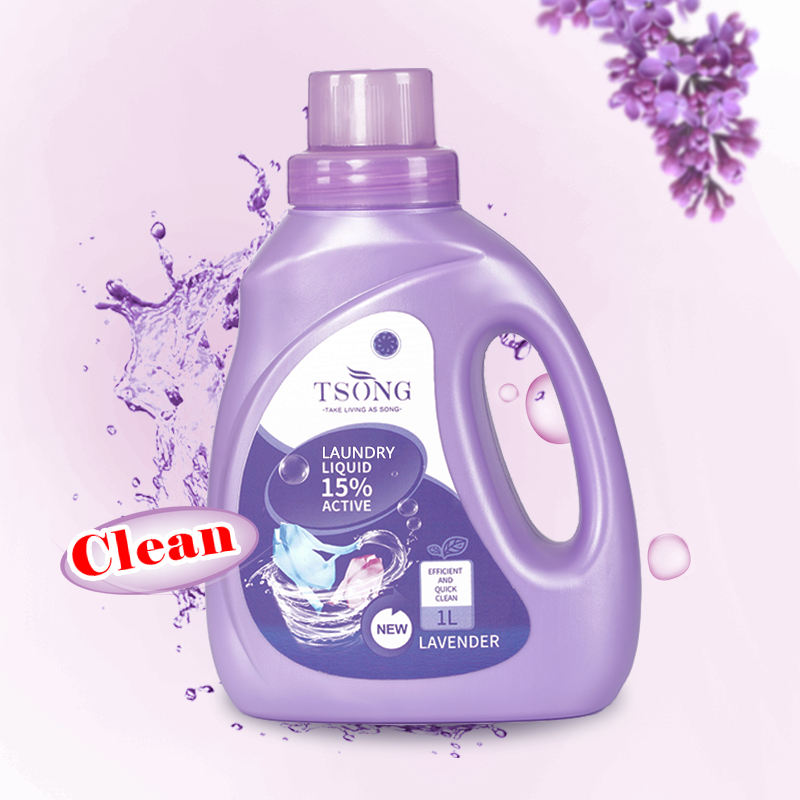 1L Lavender Scent Eco Friendly Baby Bulk Powder Washing Liquid Detergent Laundry for Sensitive Skin